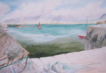 Old Lobster Pots, Roundstone by Joan Webb